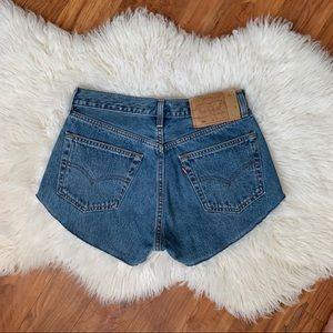 Levi's 501 vintage cut off shorts